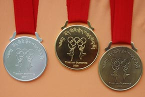 The Tibetan Olympics winners medals