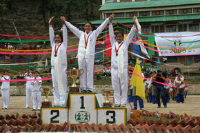 The women medal winners of Tibetan Olympics 2008